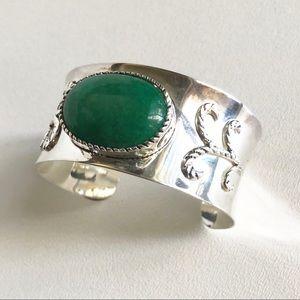 Sterling Silver Wide Cuff Bracelet Interchangeable